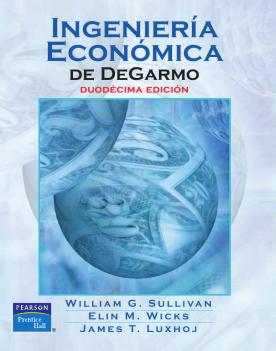 Imagen de apoyo de  Ingeniería económica de DeGarmo /