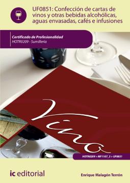 Imagen de apoyo de  UF0851: Confección de cartas de vinos, otras bebidas alcohólicas, aguas envasadas, cafés e infusiones /