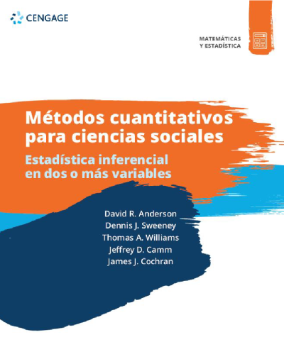 Métodos Cuantitativos para Ciencias Sociales. Estadística inferencial en dos o más variables