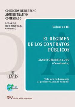 El régimen de los contratos públicos