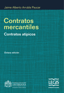 Contratos mercantiles: Contratos atípicos
